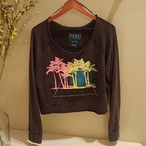 Aero Live Love Dream Cropped Sweatshirt
